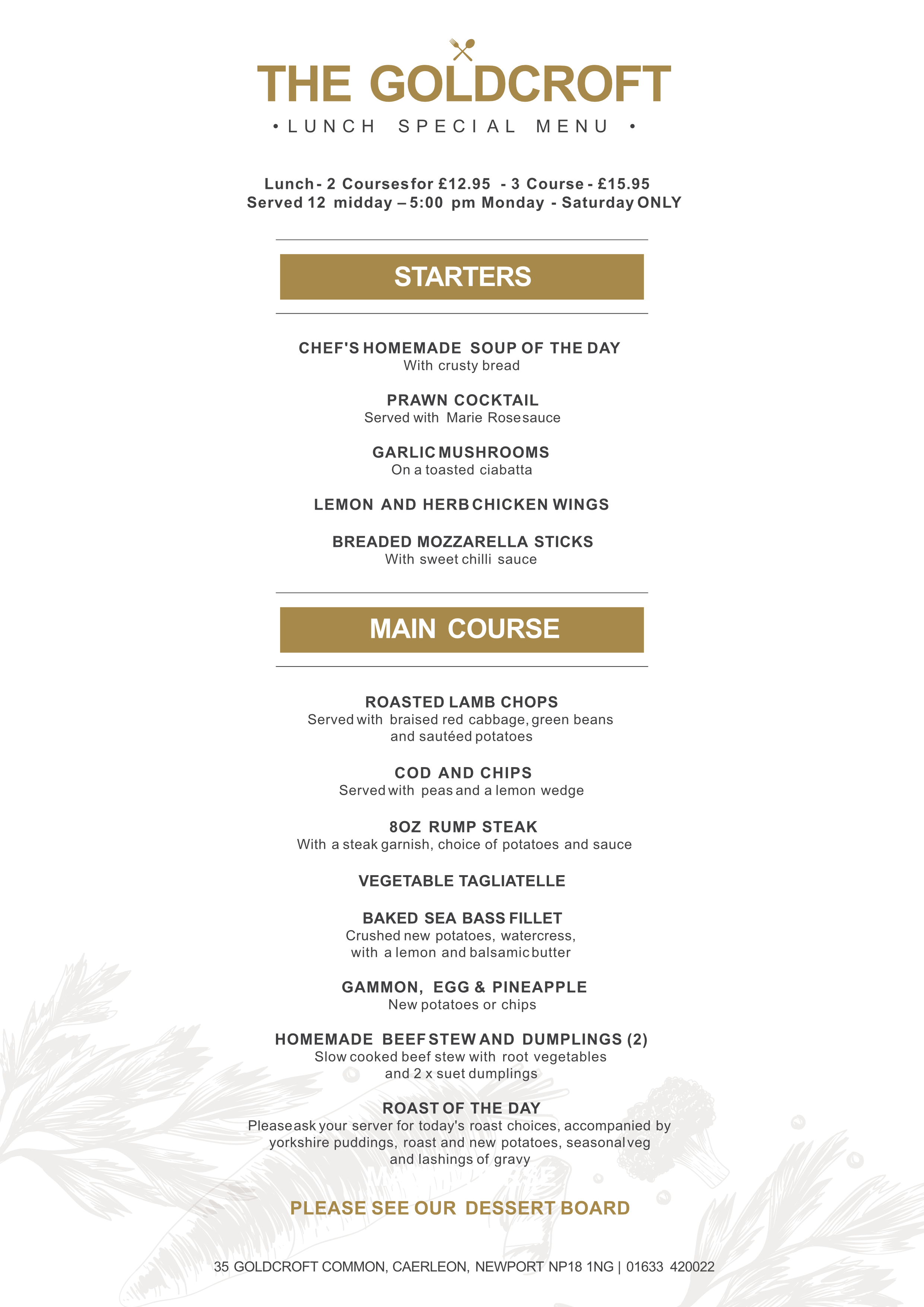 Goldcroft A5 Lunch Special Menu (1)